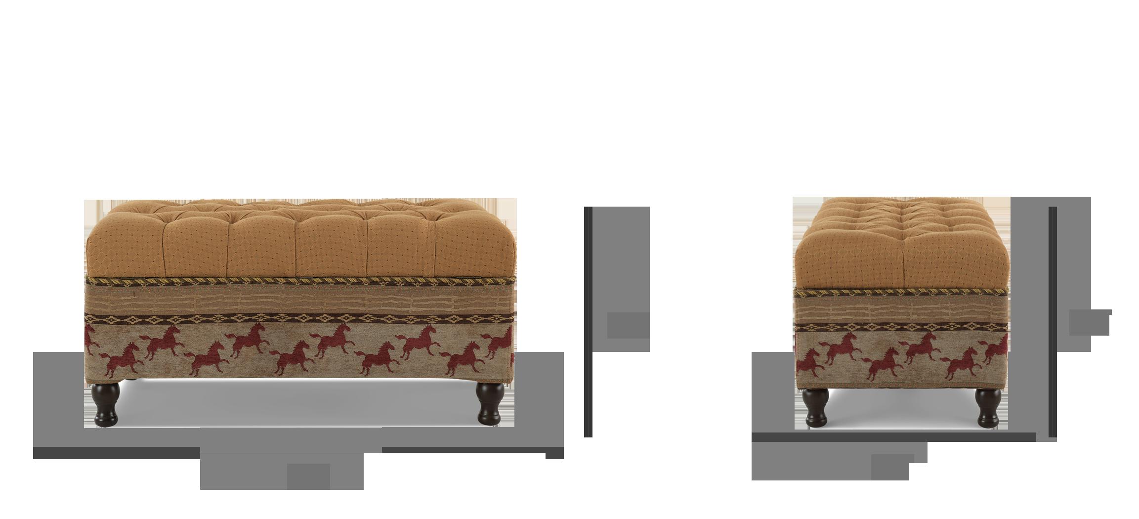 Equestrian Entryway Storage Bench
