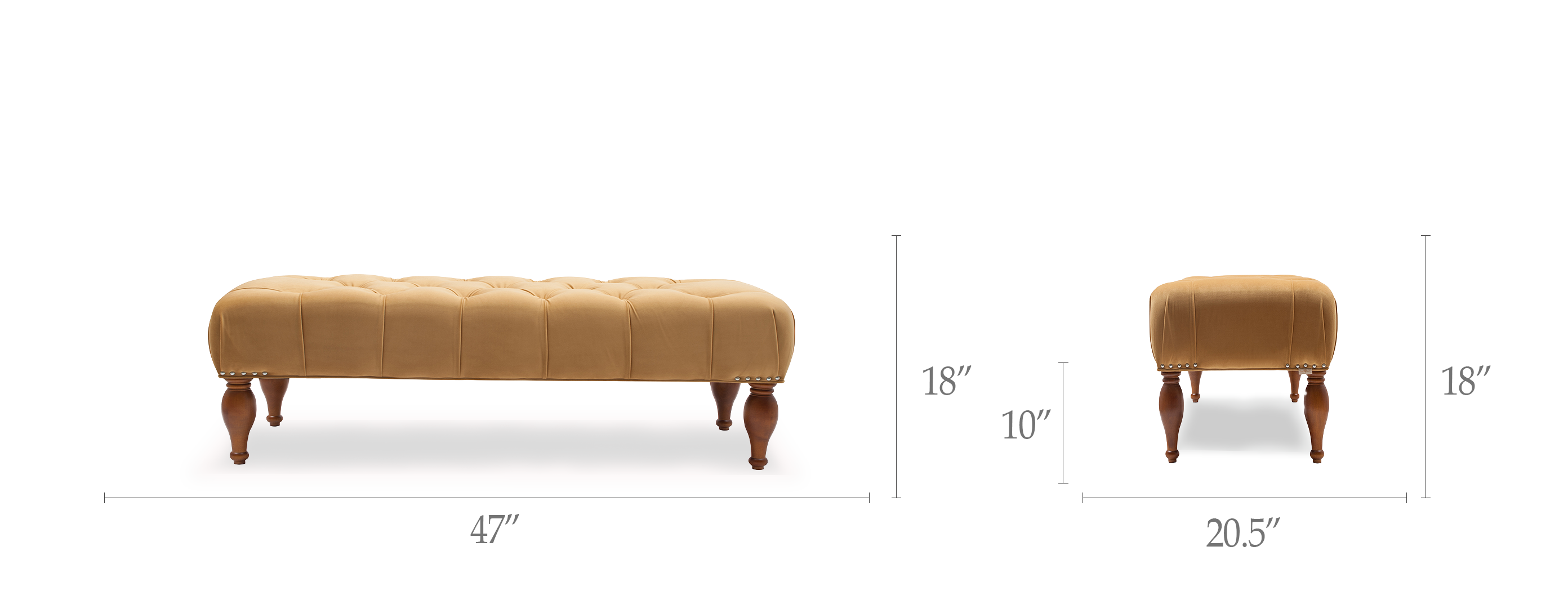 Lyon Tufted Entryway Accent Bench