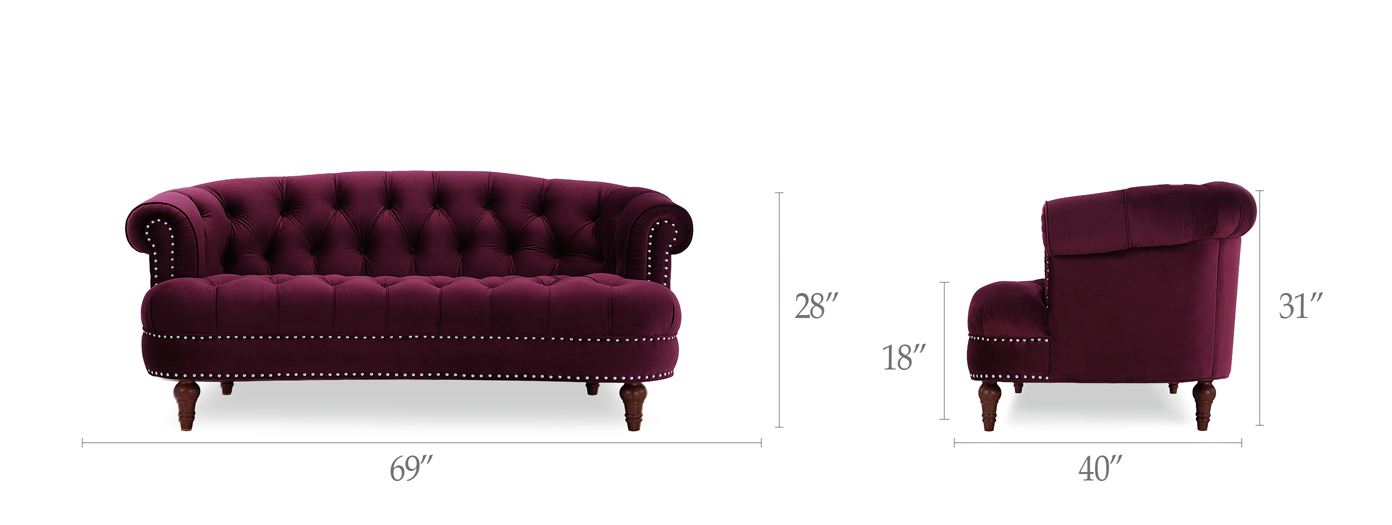 La Rosa Chesterfield Loveseat