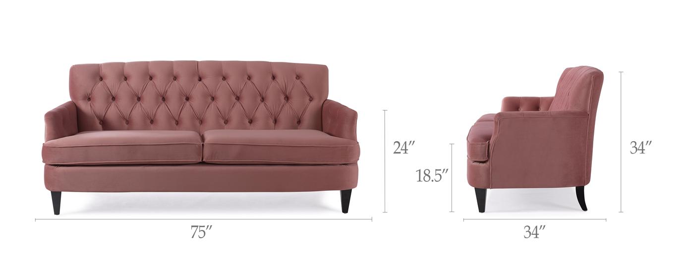 Kelly Hand Tufted Sofa