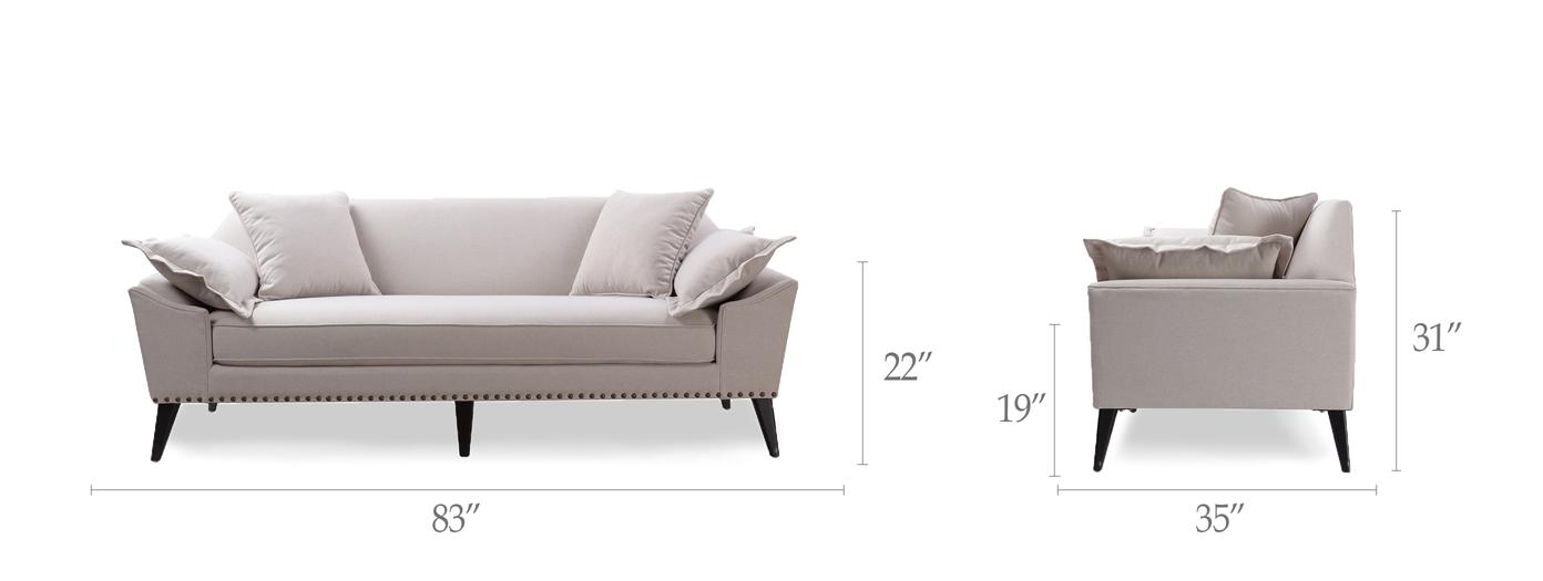Remington Mid-Century Tuxedo Sofa