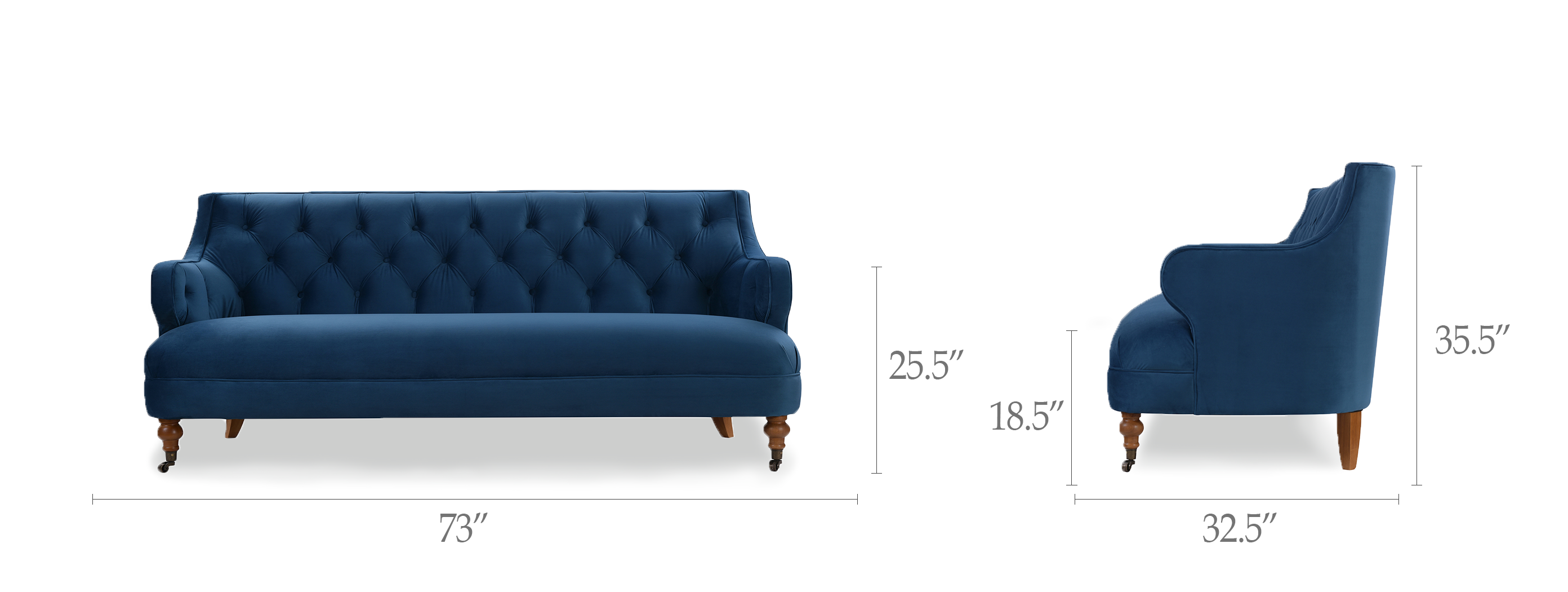 Milano Tufted Accent Sofa
