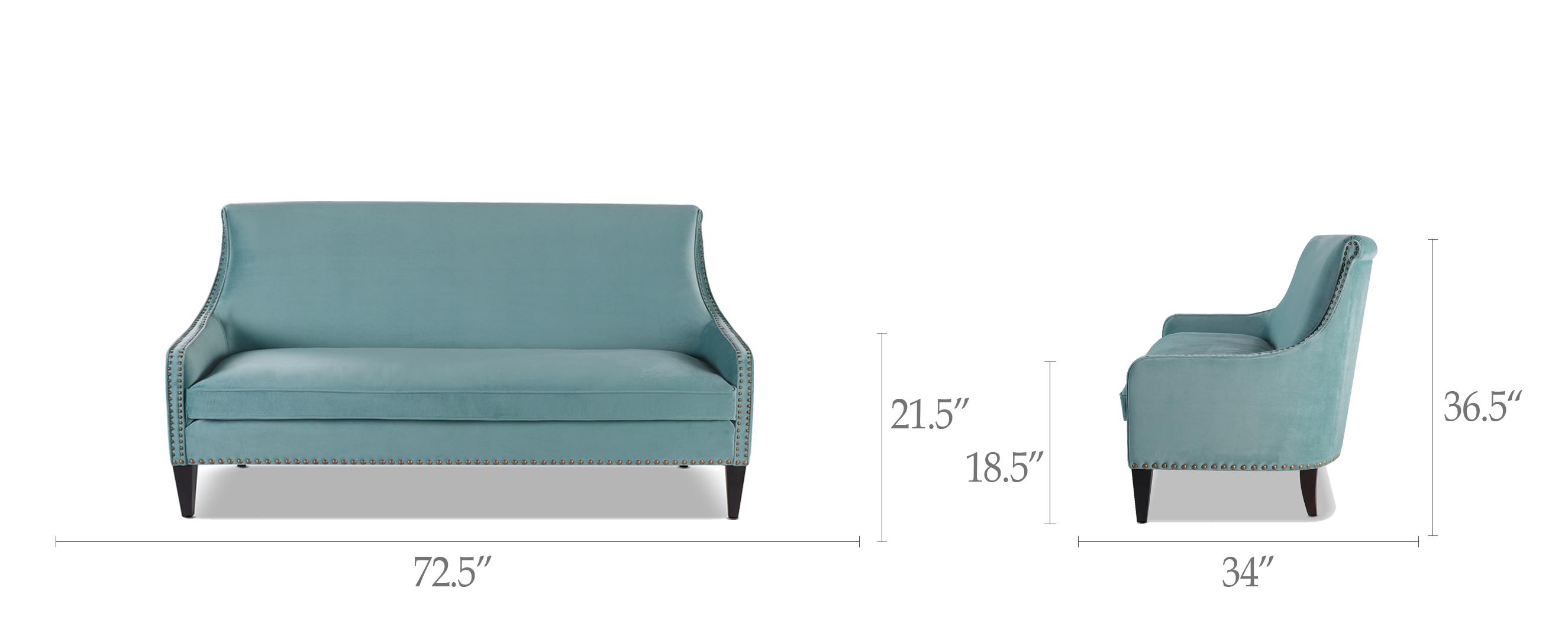 Amazing Florence Tight Back Sofa Arctic Blue Creativecarmelina Interior Chair Design Creativecarmelinacom