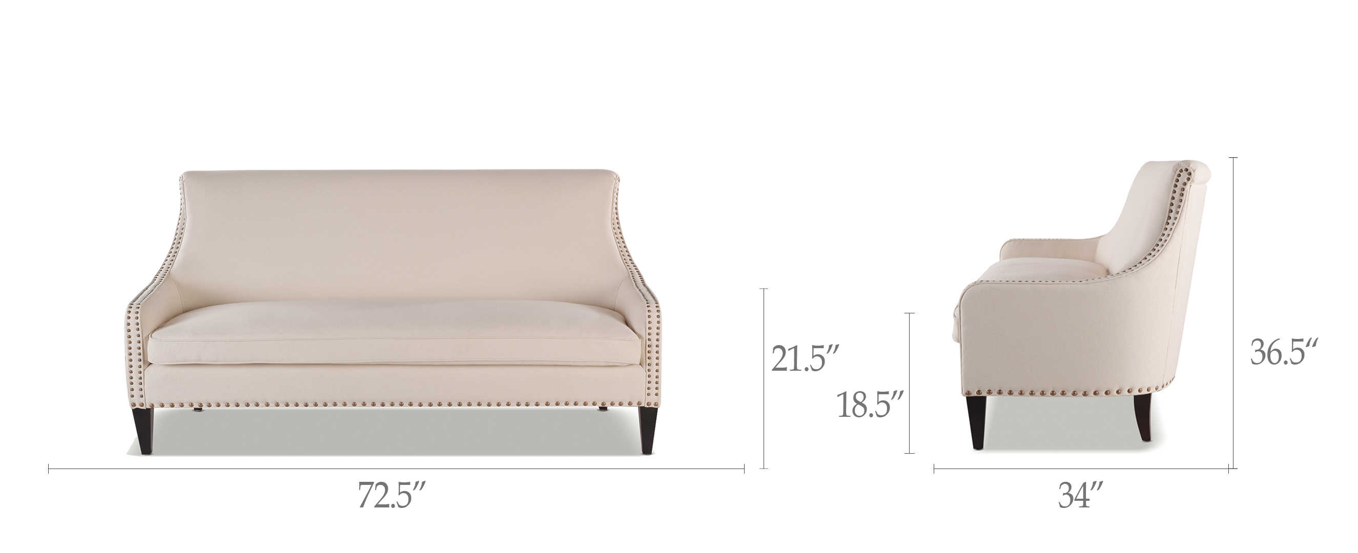 Superb Florence Tight Back Sofa Sky Neutral Creativecarmelina Interior Chair Design Creativecarmelinacom