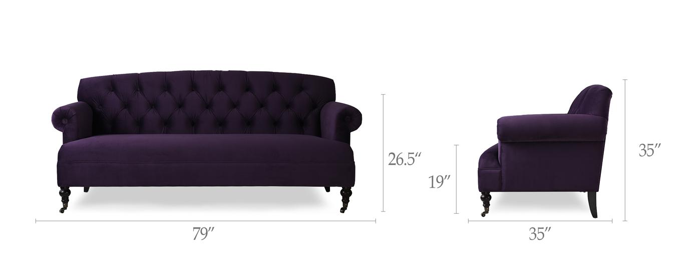 Mackenzie Tufted Rolled Arm Sofa