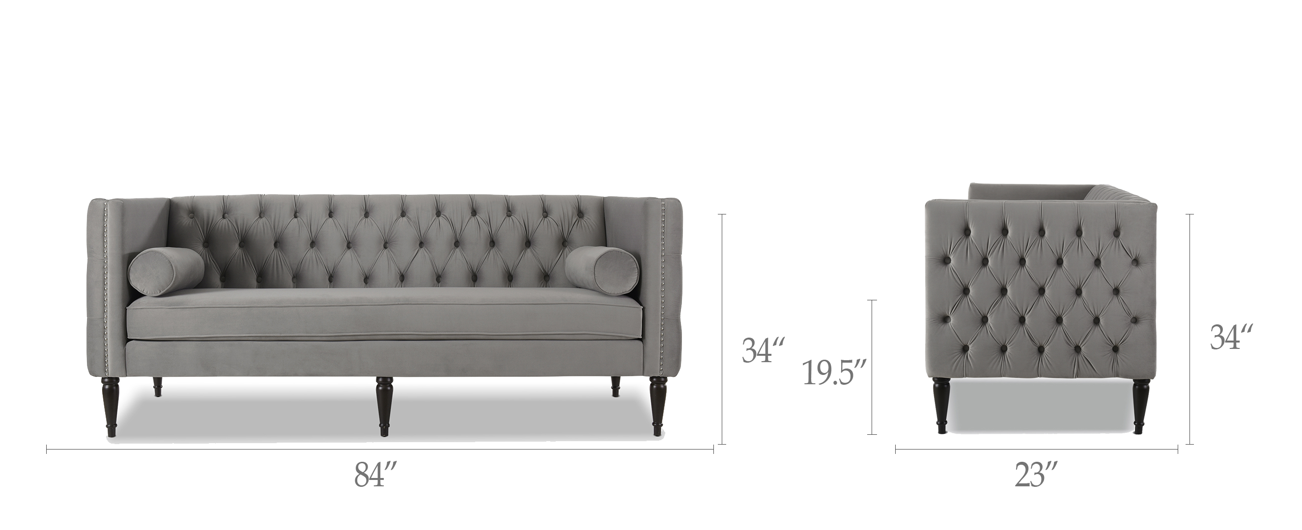 Diane Button Tufted Tuxedo Sofa