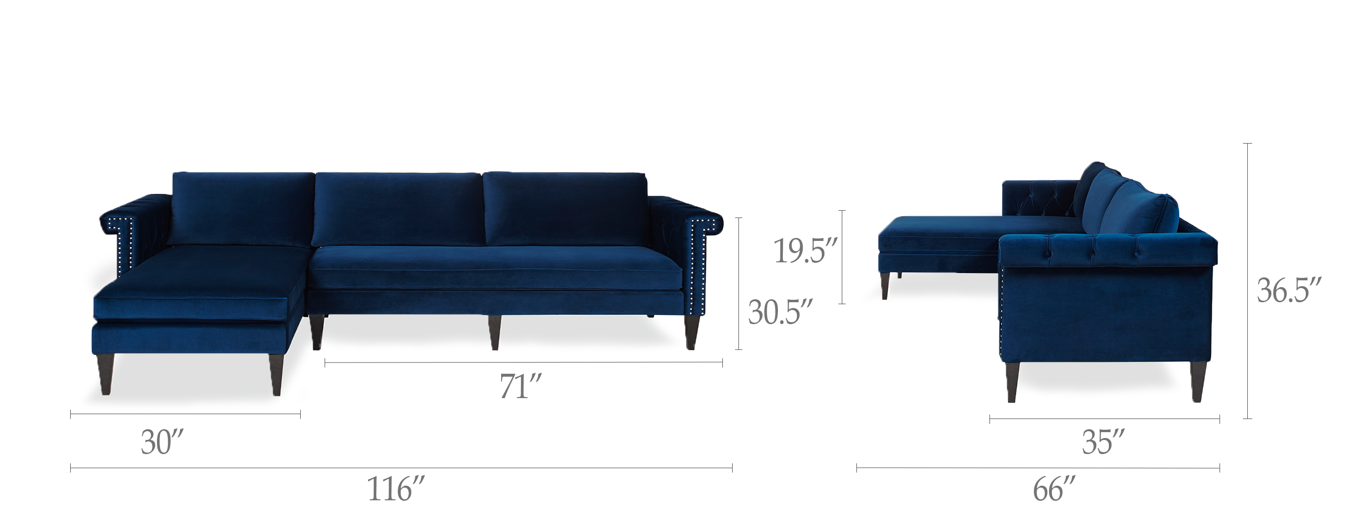 Nathaniel Reversible Chaise Sectional