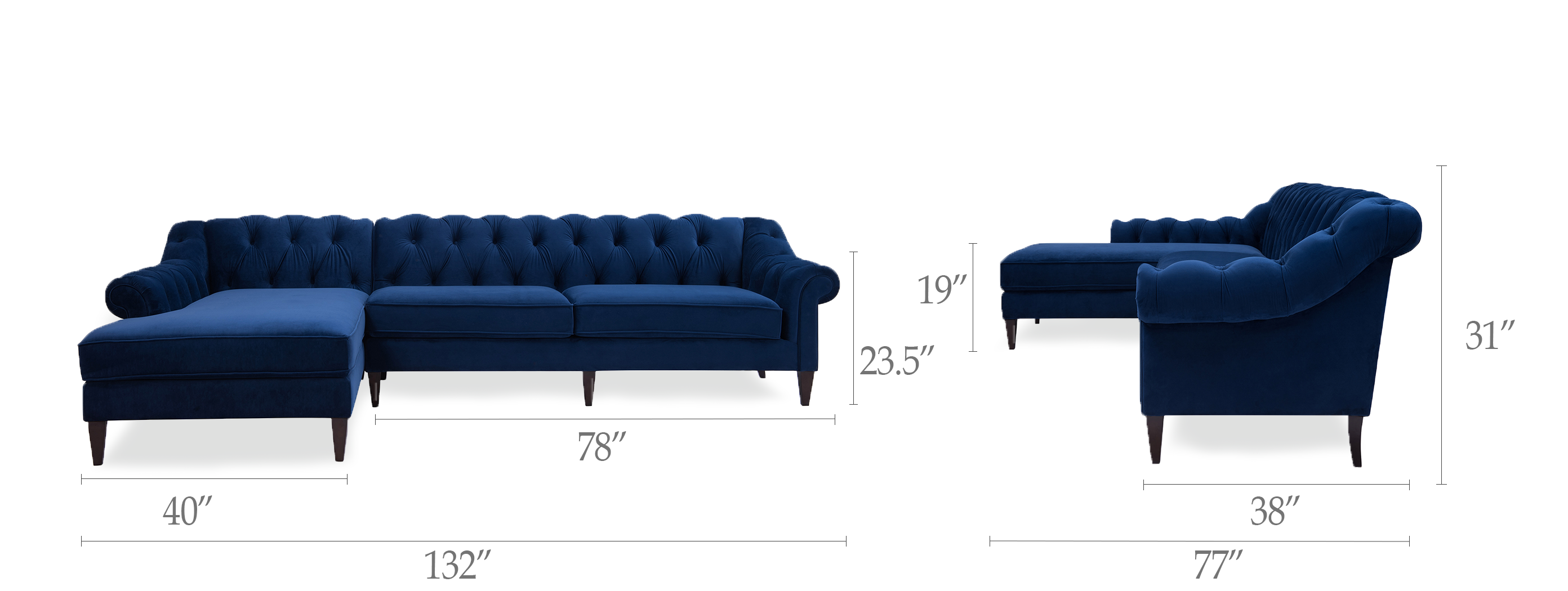 Alexandra Tufted Sectional Sofa
