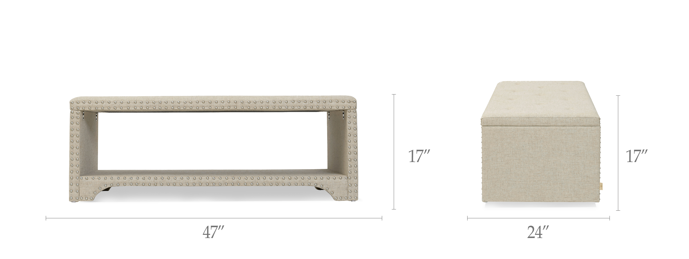 Annabelle Upholstered Entryway Bench