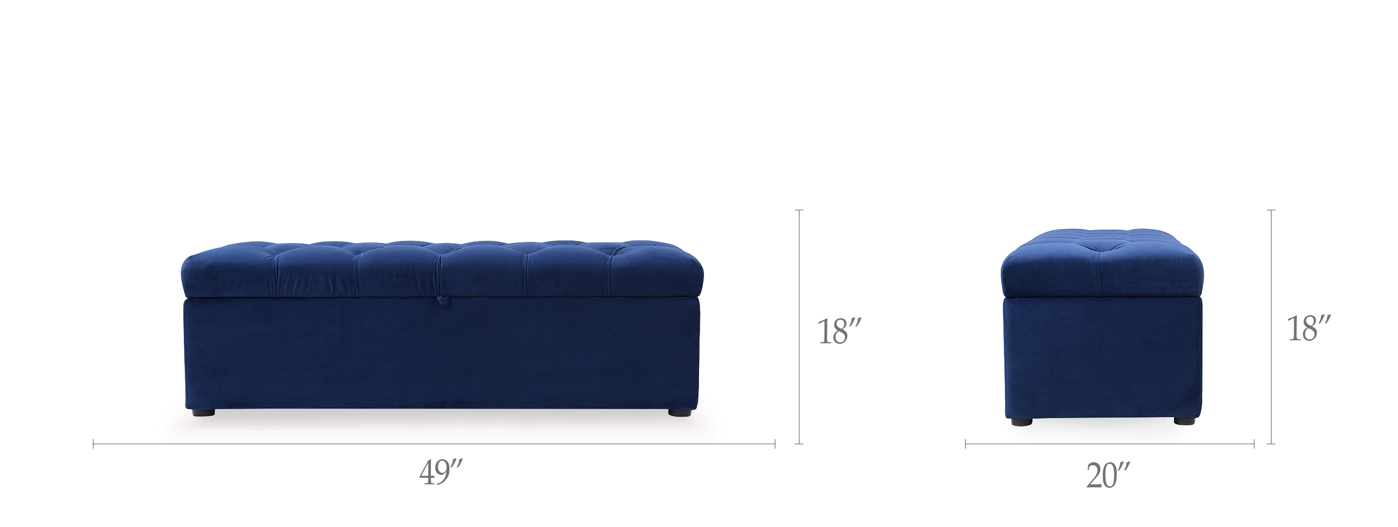 Arlo Tufted Storage Bench