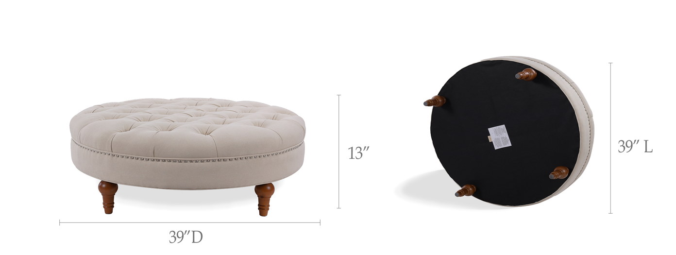 Lana Tufted Round Bench