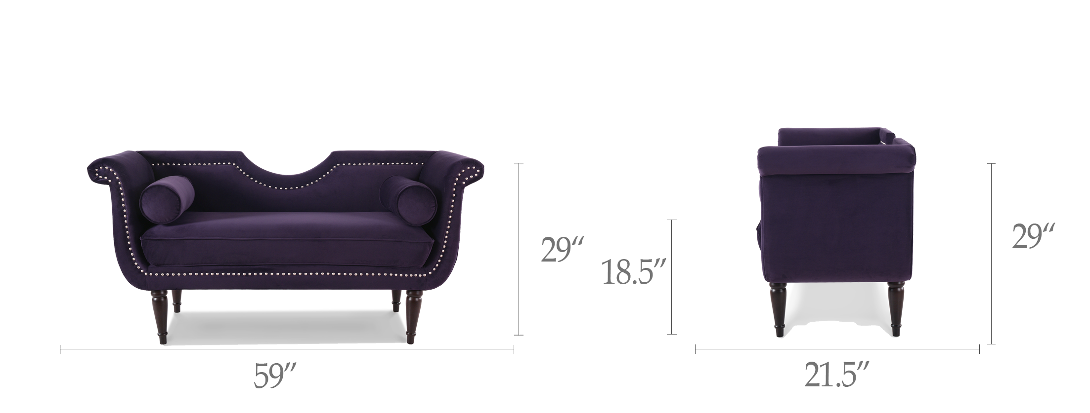 Luna Upholstered Loveseat