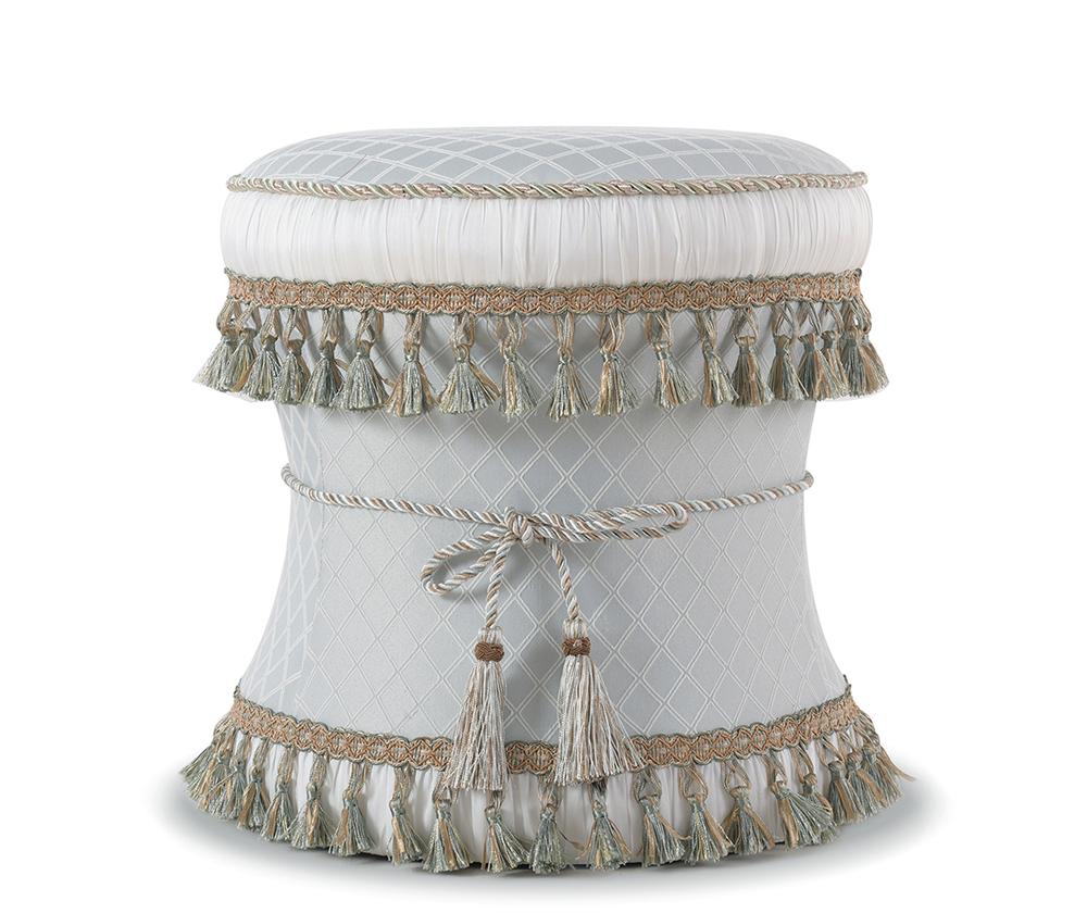 Leona Decorative Vanity Stool, Jacquard
