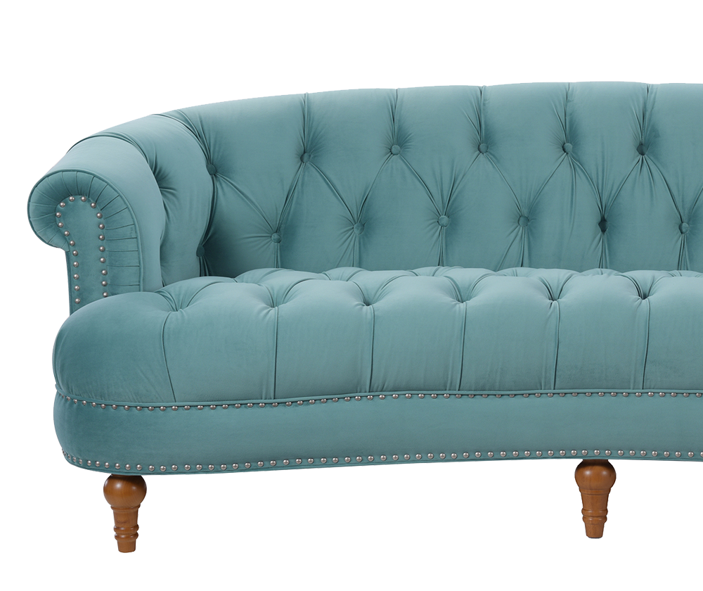 La Rosa Chesterfield Sofa, Arctic Blue