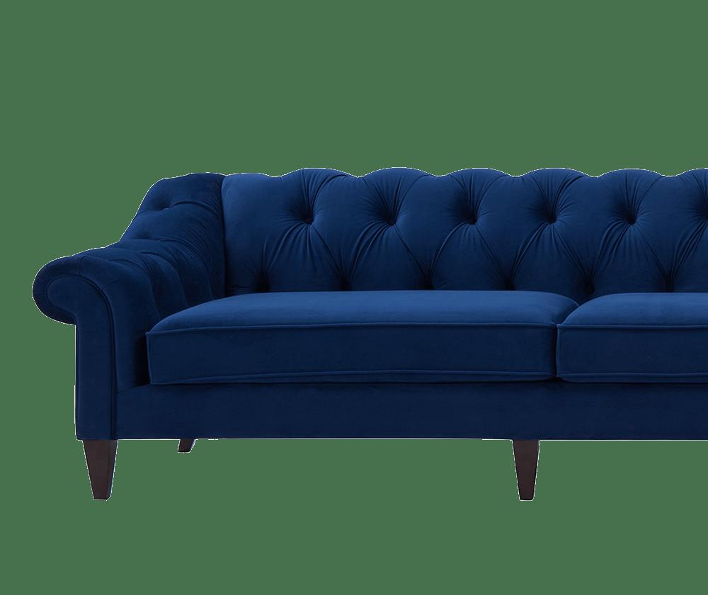 Alexandra Tufted Right dival Sofa, Navy Blue