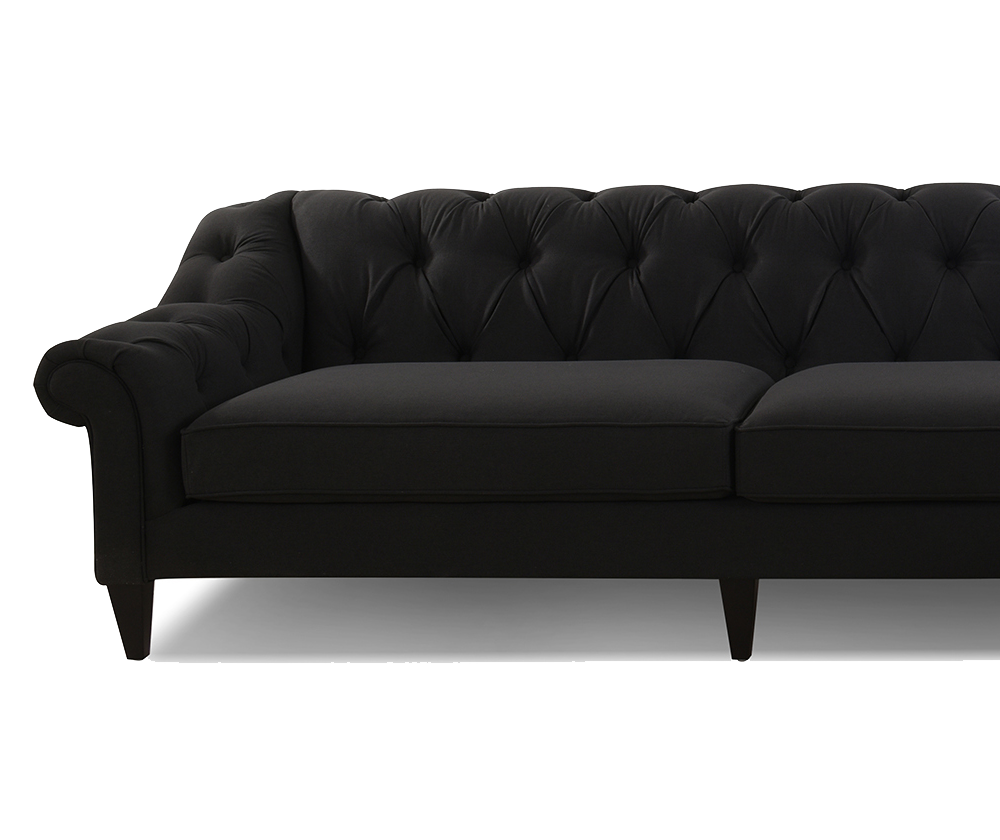 Alexandra Tufted Right dival Sofa, Navy Blue