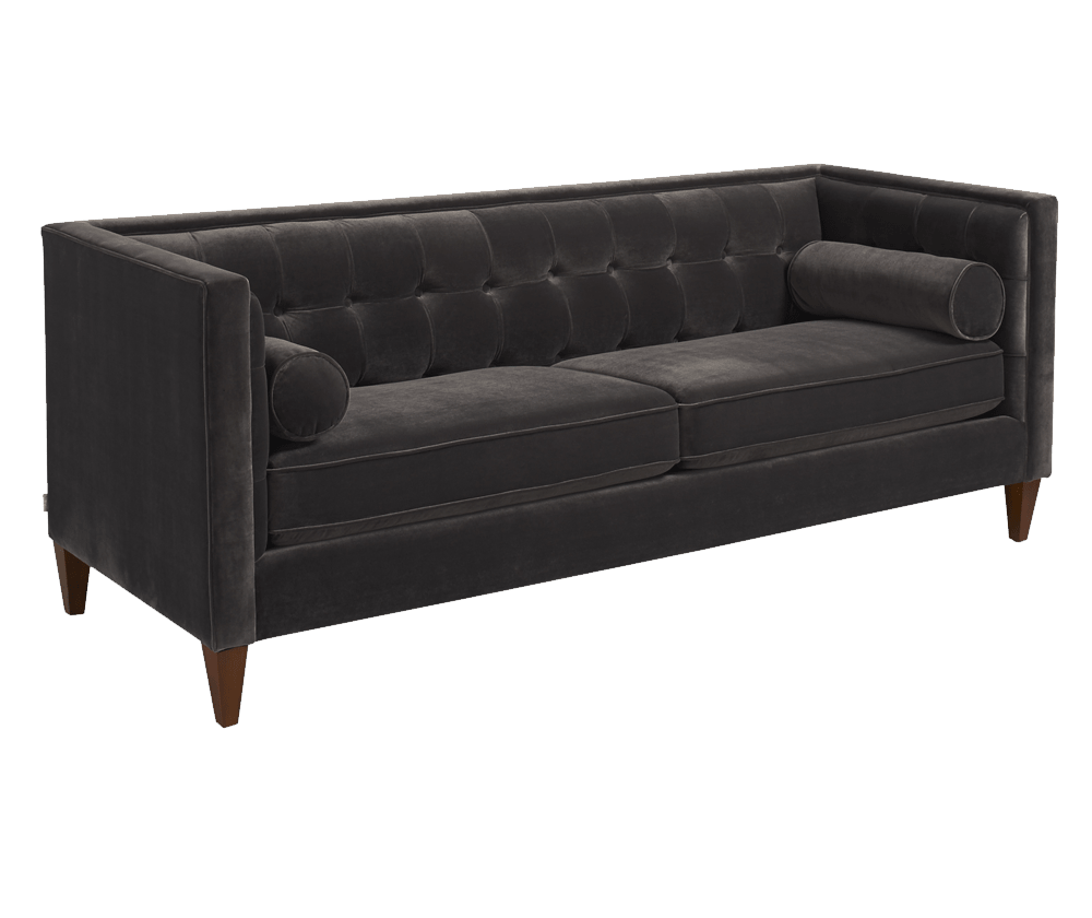 Jack Tuxedo Sofa, Dark Charcoal Grey