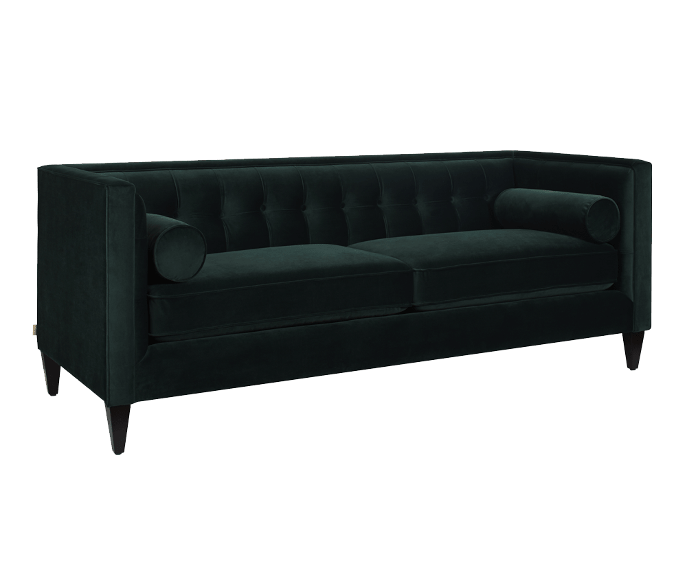 Jack Tuxedo Sofa, Hunter Green