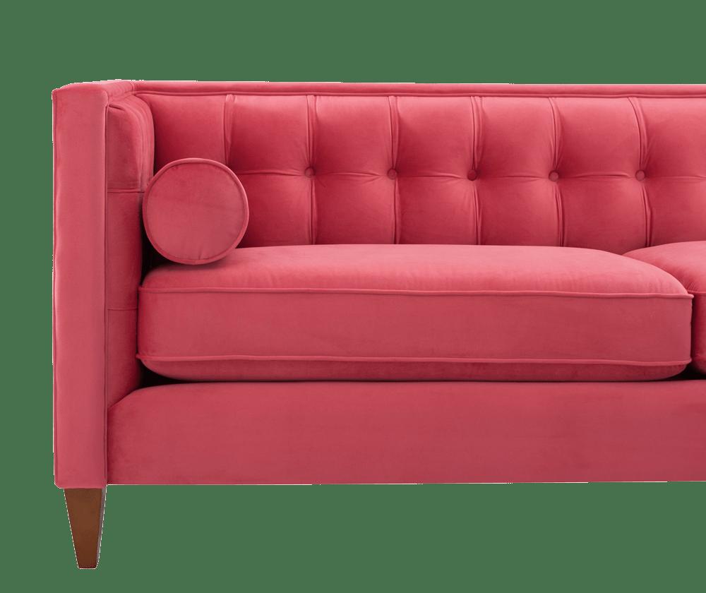 Jack Tuxedo Sofa, Garnet Rose