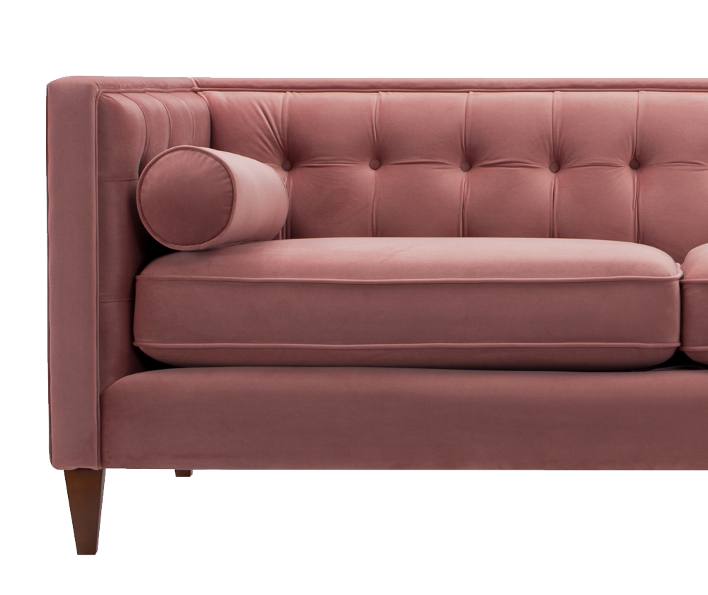 Jack Tuxedo Sofa, Ash Rose