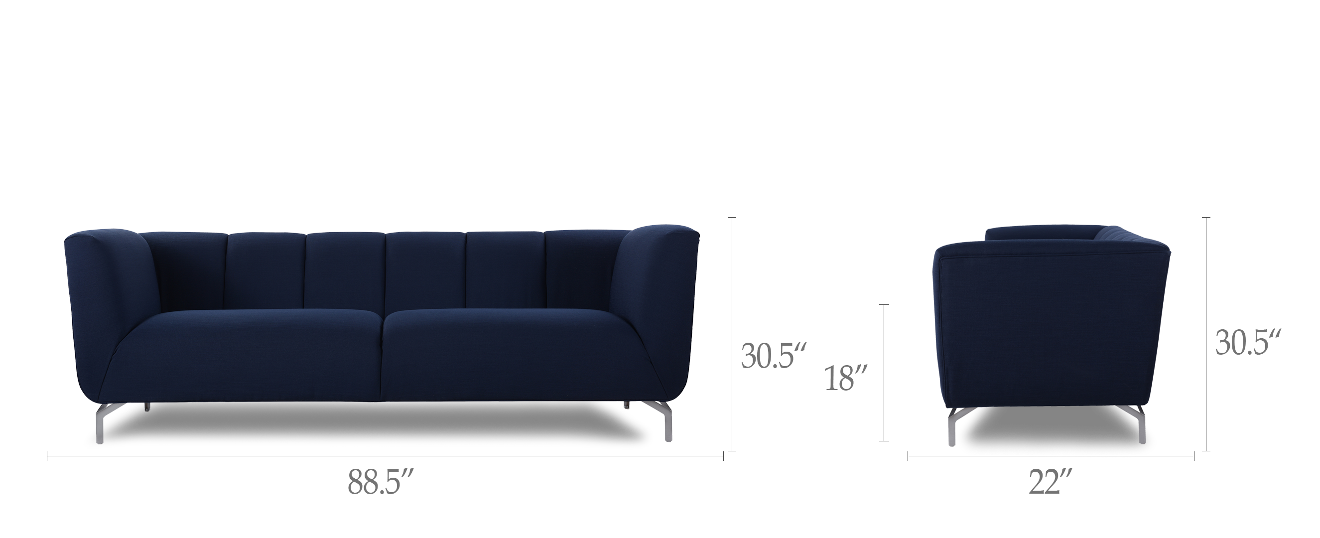 Abella Modern Contemporary Sofa