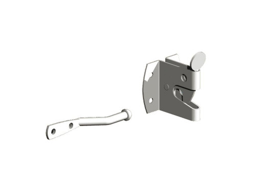 Large galvanised Auto Gate Catch (Pre-Packed With Screws)