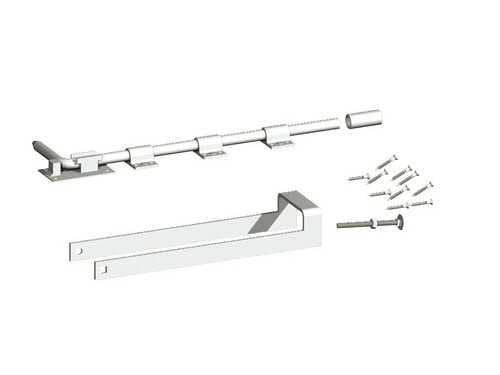 Galvanised Double Gate Fastener Set  (Pre-Packed With Screws)