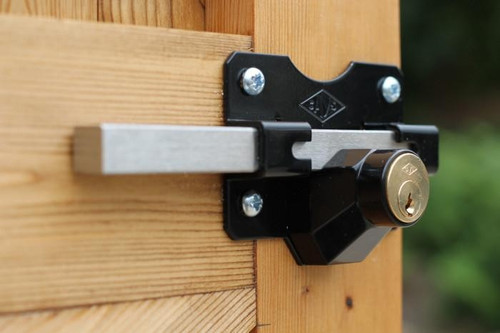 Premium Rimlock Single Locking Bolt 50mm Key Lockable From Outside