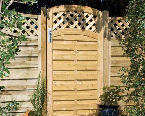Arched Lattice Top Gate - 1.8m(H) x 0.9M(W) Pressure Treated (Natural)