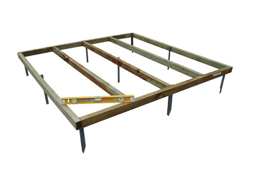 7 x 7 Shed Base with Metal Spikes