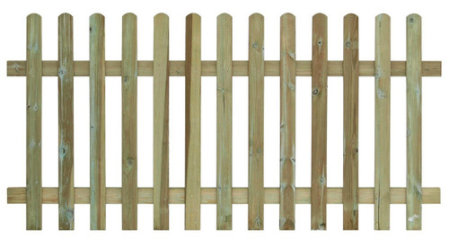 Picket Fence Panel 1.8m(W) x 1200mm(H) Round Top