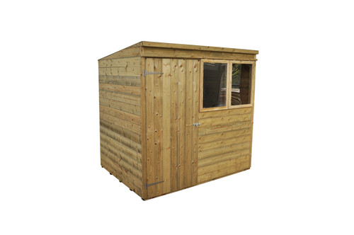 Tongue and Groove Pressure Treated 7x5 Pent Shed