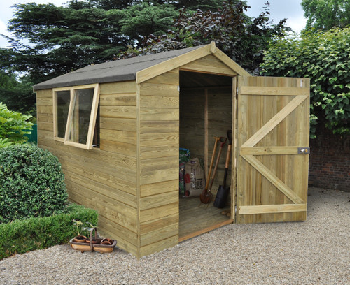 Tongue and Groove Pressure Treated 8x6 Apex Shed
