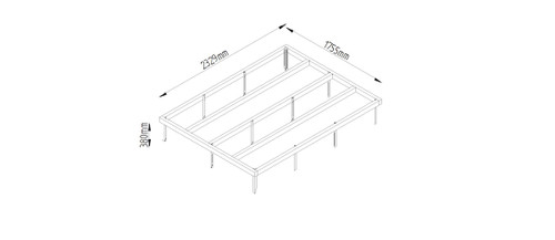 8 x 6 Shed Base with Metal Spikes