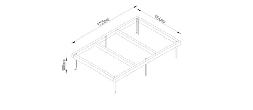 6 x 4 Shed Base with Metal Spikes