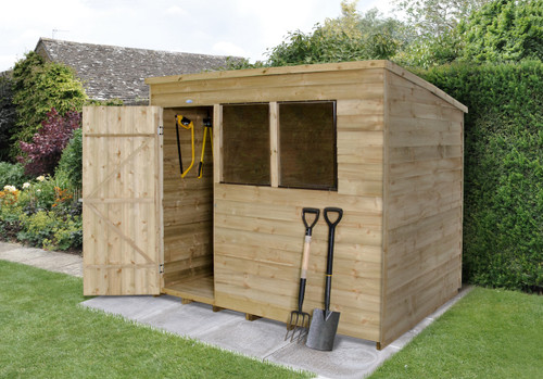 Overlap Pressure Treated 6x4 Reverse Apex Shed