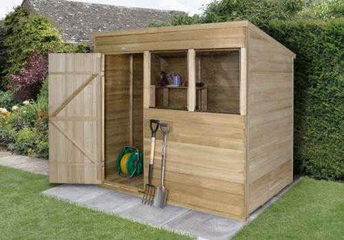 Overlap Pressure Treated 7x5 Pent Shed