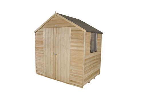 Overlap Pressure Treated 7x5 Apex Shed Double Door