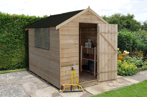 Overlap Pressure Treated 8x6 Apex Shed With Onduline Roof