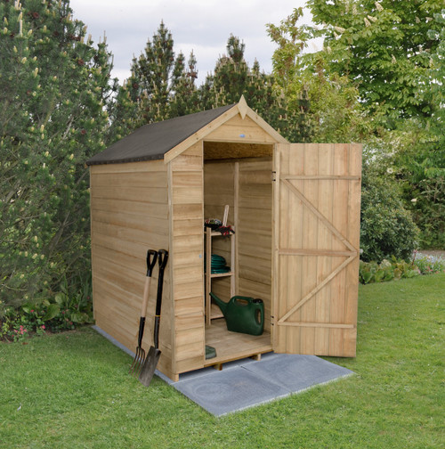 Overlap Pressure Treated 6x4 Apex Shed No Windows