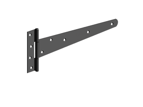 "18"" Black Medium 'T' Hinges  (Pre-Packed With Screws)"