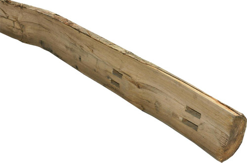 Timber Fence Post 1.98m(H) Morticed for 2 Rail Cleft Chestnut