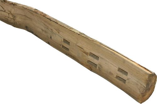 Timber Fence Post 1.98m(H) Morticed for 3 Rail Cleft Chestnut
