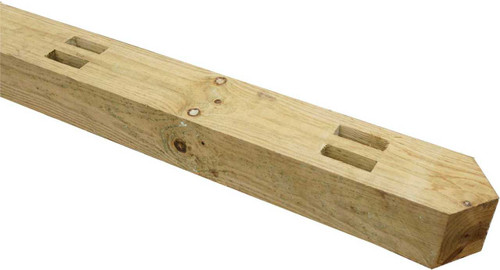 2.1m(H) 125x100mm Morticed Post for 2 Rail (Natural)