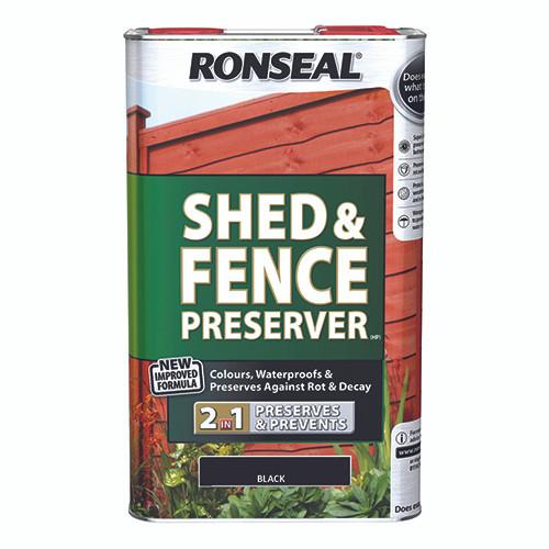 Ronseal Shed & Fence Preserver - Black 5L