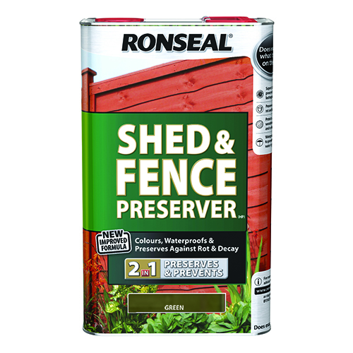 Ronseal Shed & Fence Preserver - Green 5L