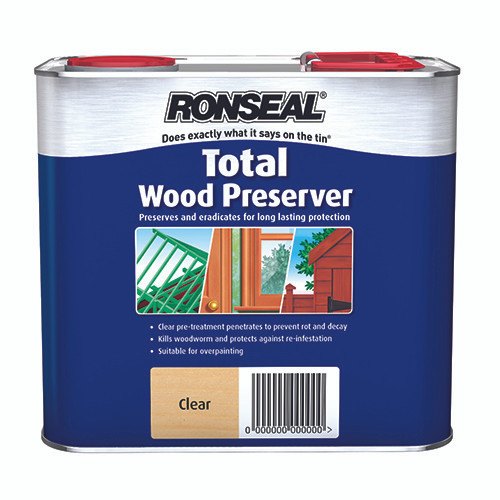 Ronseal Shed & Fence Preserver - Clear Coat 2.5L