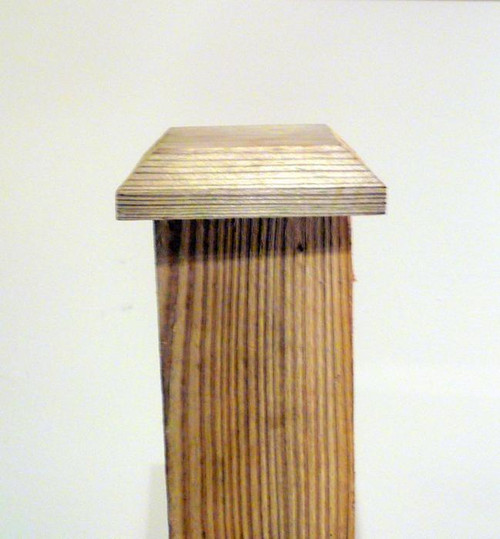 Fence Post Cap 100x100mm Pressure Treated (Brown)
