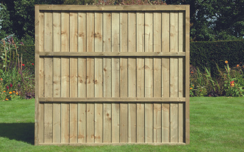Feather Edge Fence Panel 1.83m(W) x 1.65m(H) Pressure Treated
