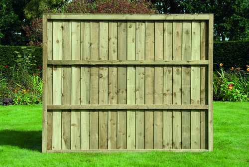 Feather Edge Fence Panel 1.83m(W) x 1.5m(H) Pressure Treated